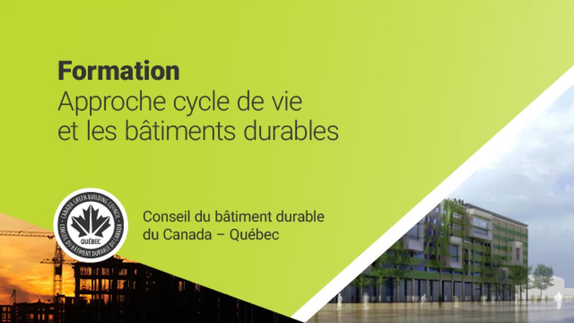 Formation - Approche cycle de vie et bâtiments durables