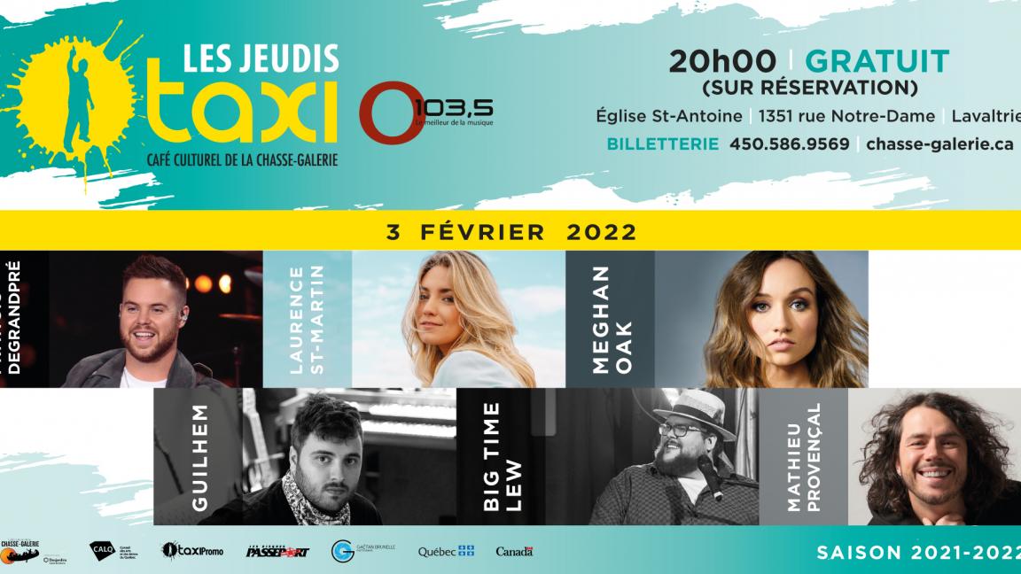 Jeudis Taxi O103,5 - FÉVRIER 2022