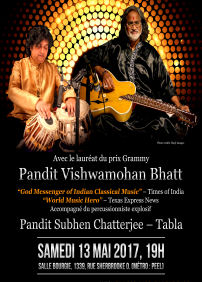 KABIR CENTRE presents MAGIC OF MOHAN VEENA: PANDIT VISHWAMOHAN BHATT – May 13th 2017 – SALLE BOURGIE, MONTREAL, QC