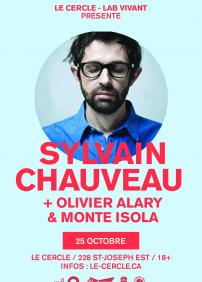 ANNULÉ!!! Sylvain Chauveau + Olivier Alary + Myriam Pruvot