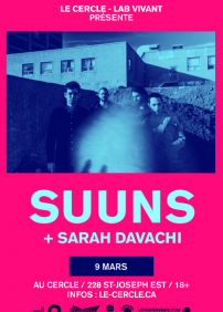 Suuns + Sarah Davachi