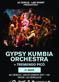 Gypsy Kumbia Orchestra + Tremendo Picó (Afrolatin Sound System)