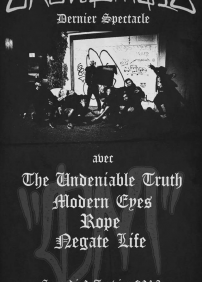 Crowdmate / The Undeniable Truth / Modern Eyes / Rope / Negate Life