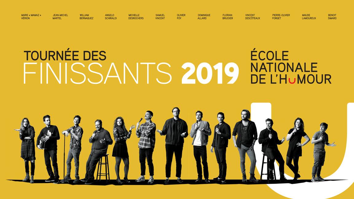 La tournée des finissants 2019 de l'École nationale de l'humour