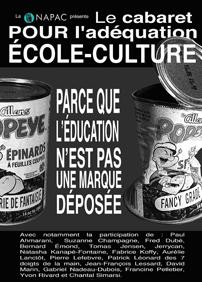 Cabaret Pour l'adéquation École-Culture