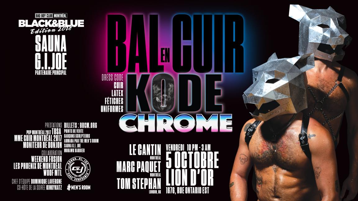 BAL EN CUIR 'KODE-CHROME' BLACK & BLUE 2018