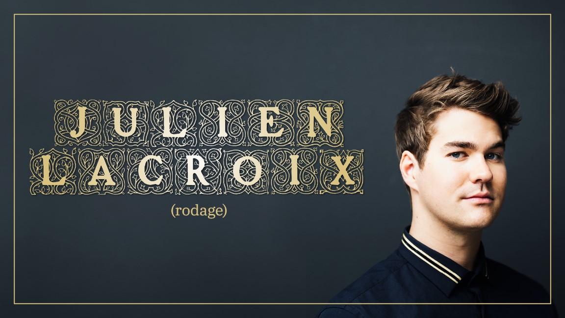 Julien Lacroix en rodage