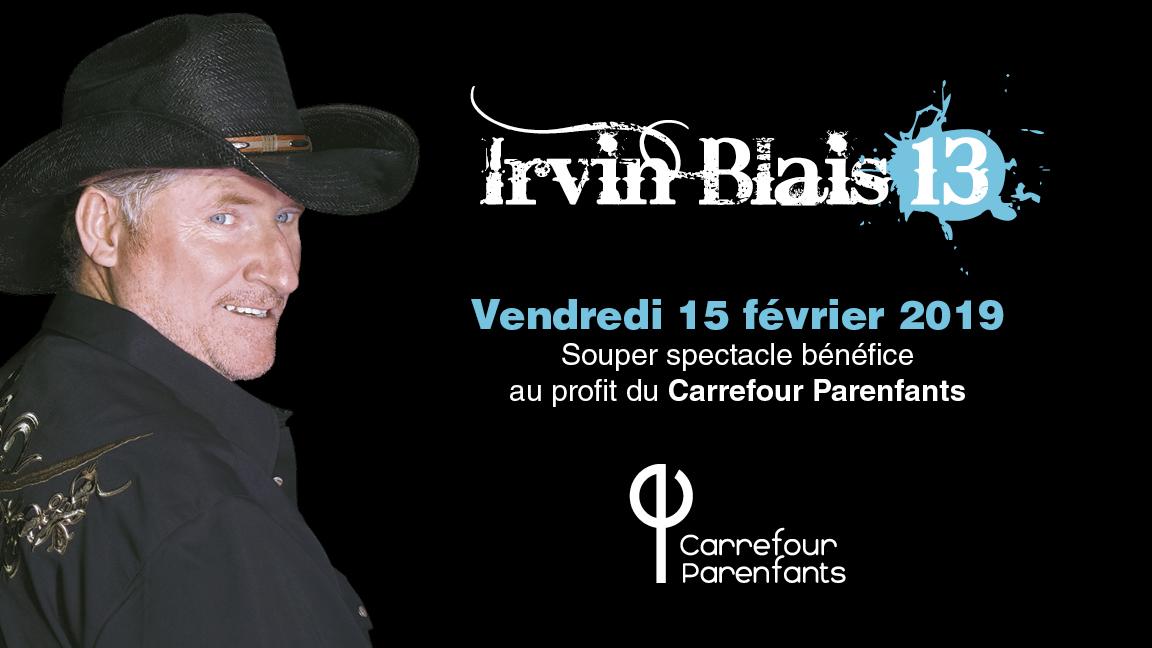 Irvin Blais | Souper spectacle bénéfice au profit du Carrefour Parenfants