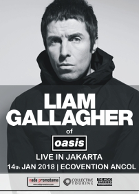 The Playmaker presents Liam Gallagher of Oasis Live in Jakarta: Liam Gallagher – January 14th 2018 – Ecovention, Jakarta