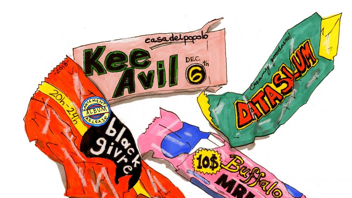 Black Givre - Errance et mépris album release + Kee Avil + Data Slum + Buffalo MRI
