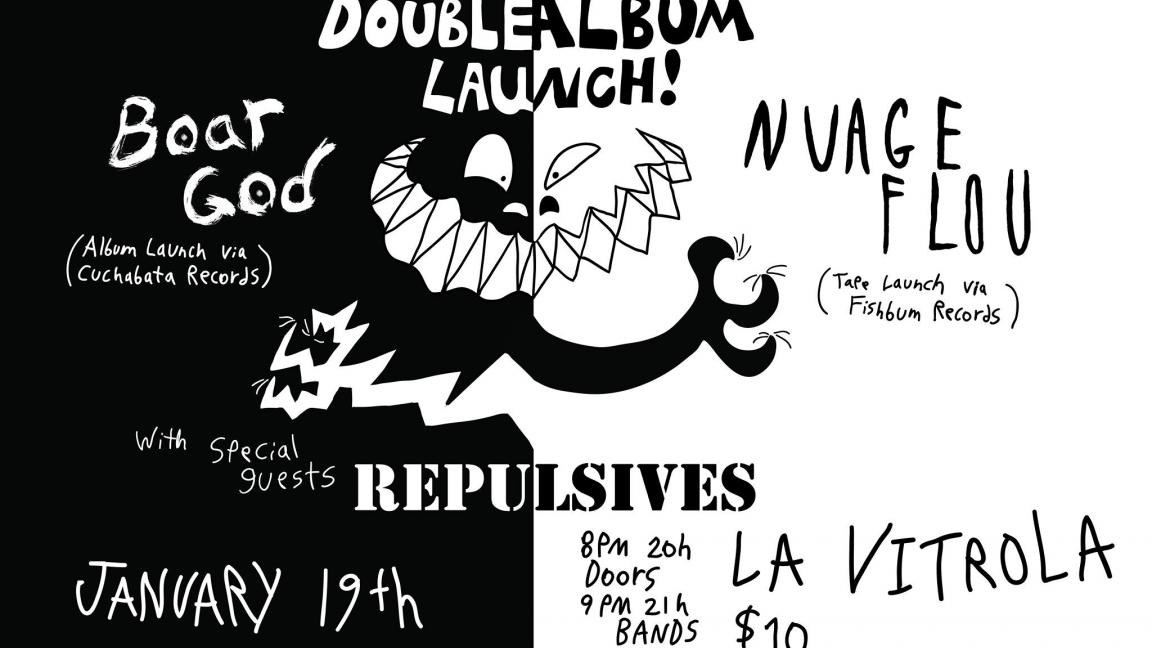 Double lancement!! Nuage Flou et Boar God avec Repulsives