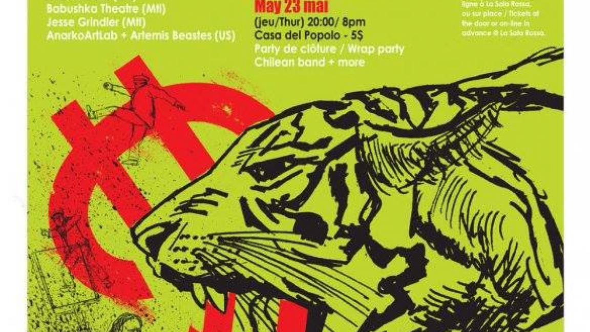 Festival de Théâtre Anarchiste de Montréal 2019 - Party de cloture, rock'n'roll chilien et autres surprises
