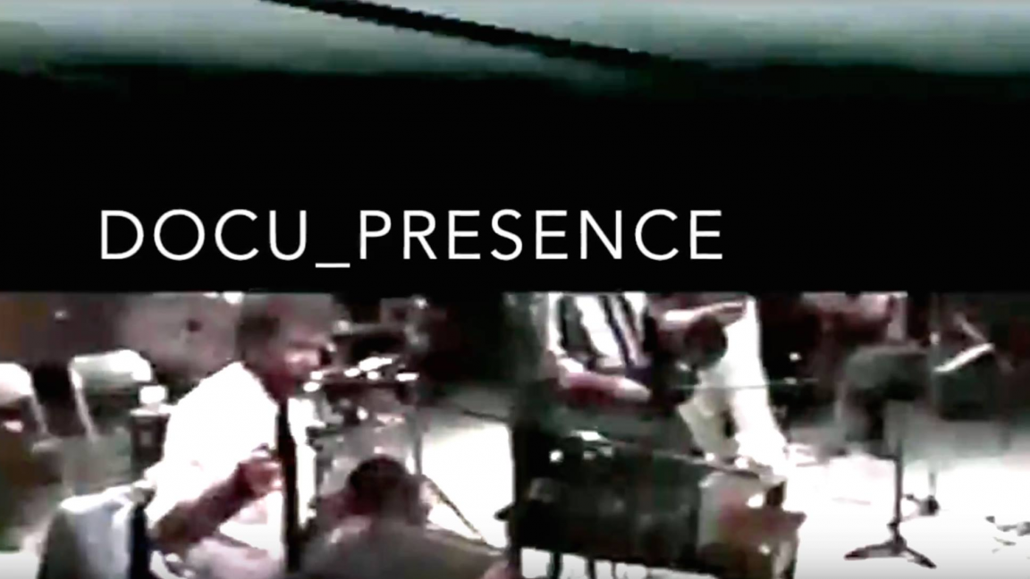 Docu_presence: an installation-performance