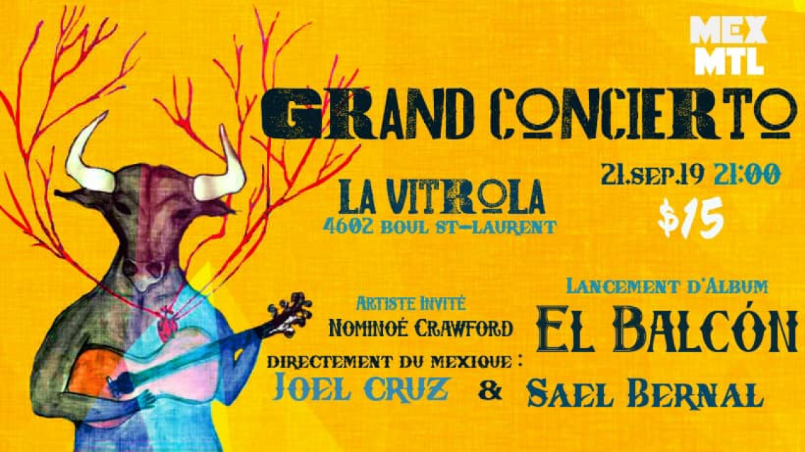 Grand Concert! El Balcón - Joel Cruz et Sael Bernal - Nominoé