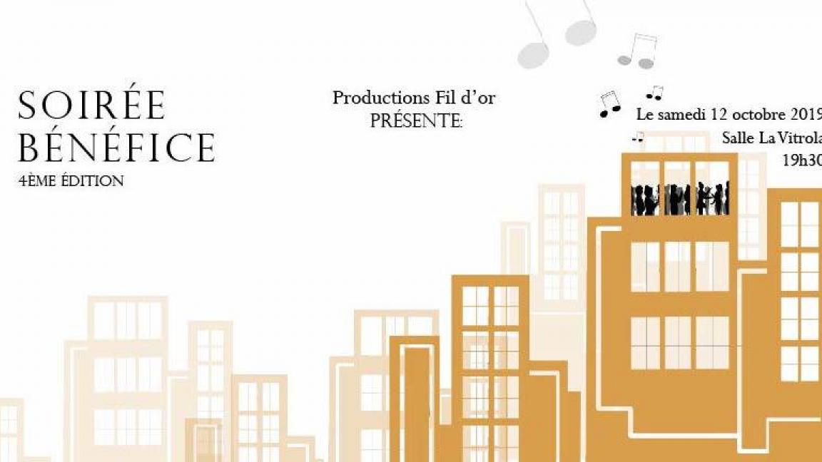 Soirée-bénéfice de Productions Fil d'or - 4ème édition