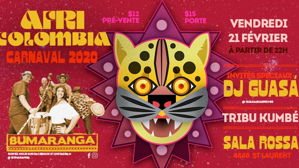 AFRICOLOMBIA CARNAVAL 2020  BUMARANGA + DJ GUASA + TRIBU KUMBE