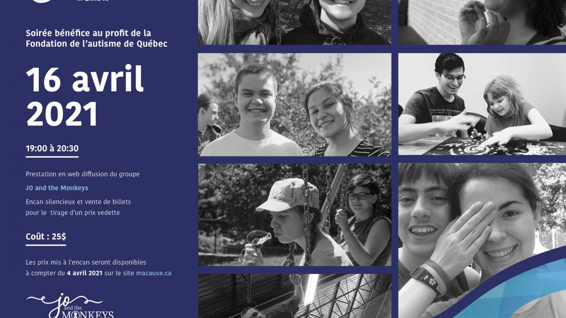 Spectacle bénéfice Fondation de l'autisme de Québec
