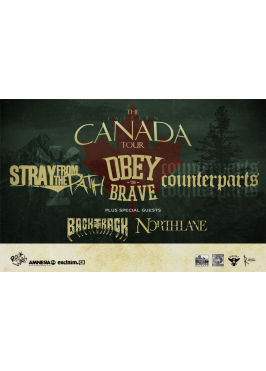 District 7 Production / Ghost Town présentent OBEY THE BRAVE, STRAY FROM THE PATH, COUNTERPARTS – 24 septembre 2012 – K-BARET, Saguenay, QC