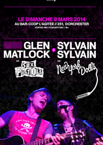 Sylvain Sylvain (New York Dolls), Glen Matlock (Sex Pistols)