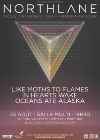 Northlane, Like Moths To Flames, In Hearts Wake, Oceans Ate Alaska