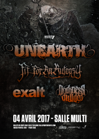 Unearth, Fit For An Autopsy, Exalt