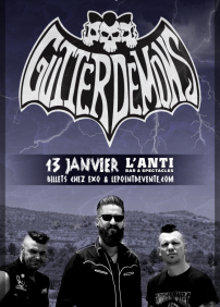 District 7 Production présente Gutter Demons – 13 janvier 2018 – L'Anti Bar & Spectacles, Québec, QC