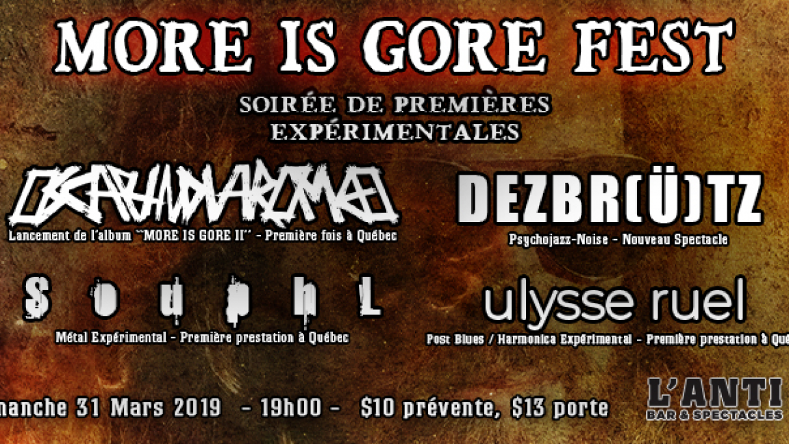 MORE IS GORE FEST