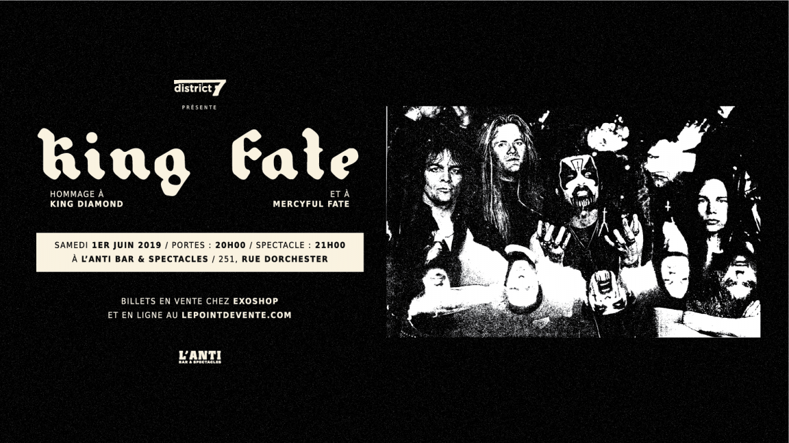 King Fate - Hommage à King Diamond &  Mercyful Fate