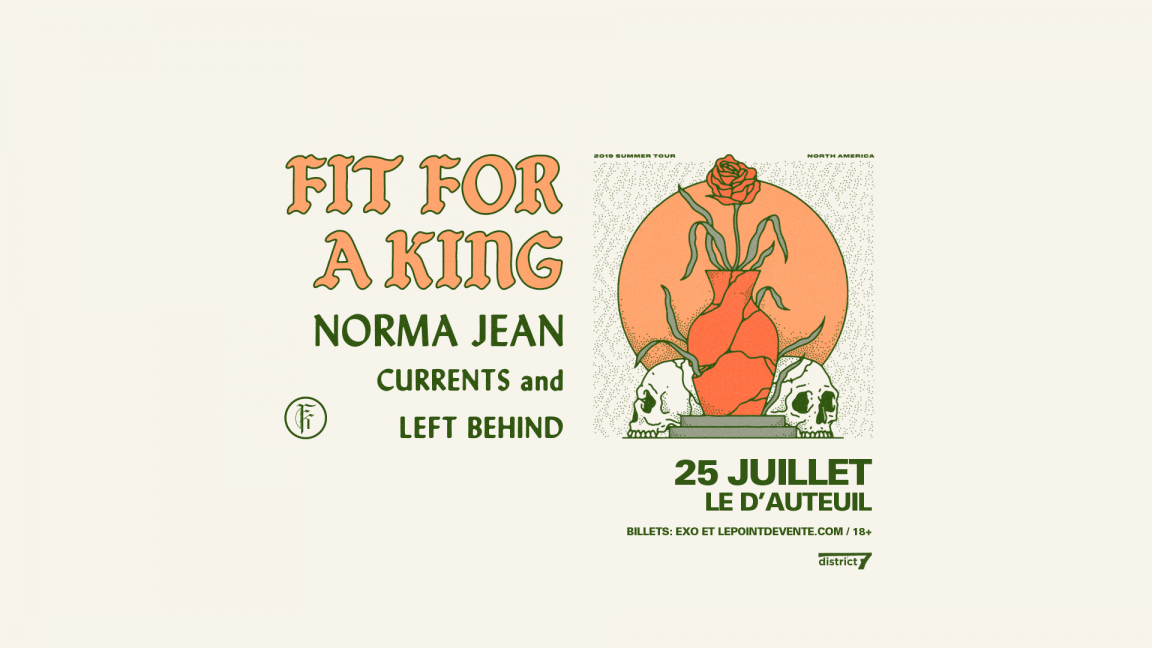 Fit For A King - Le D'Auteuil