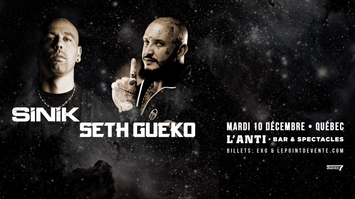 SINIK et SETH GUEKO