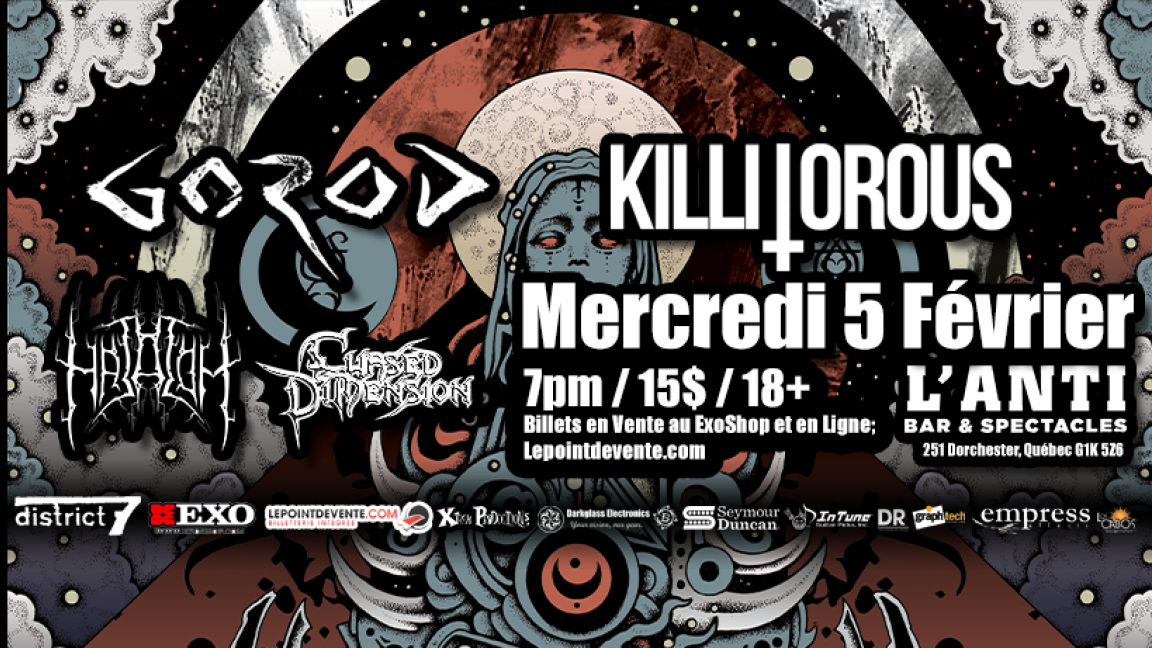 Gorod, Killitorous, Hatalom & Cursed Dimension