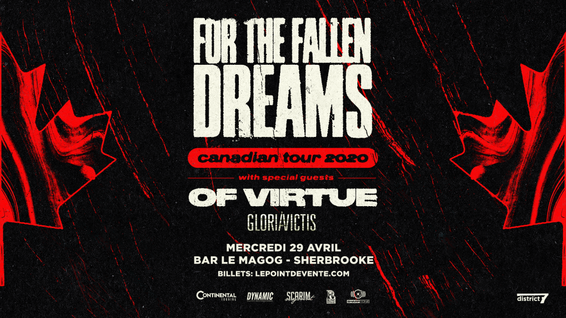 ***ANNULÉ*** FOR THE FALLEN DREAMS avec OF VIRTUE / Sherbrooke
