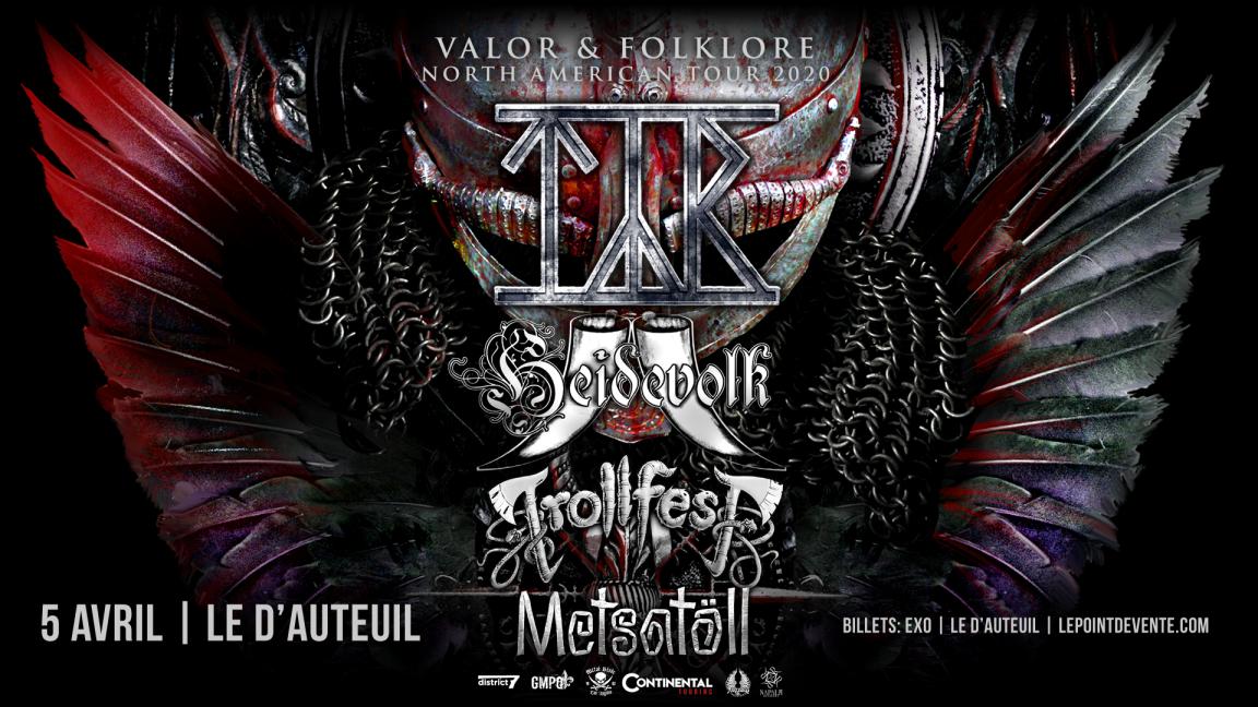 TYR avec Heidevolk, Trollfest et Metsatöll