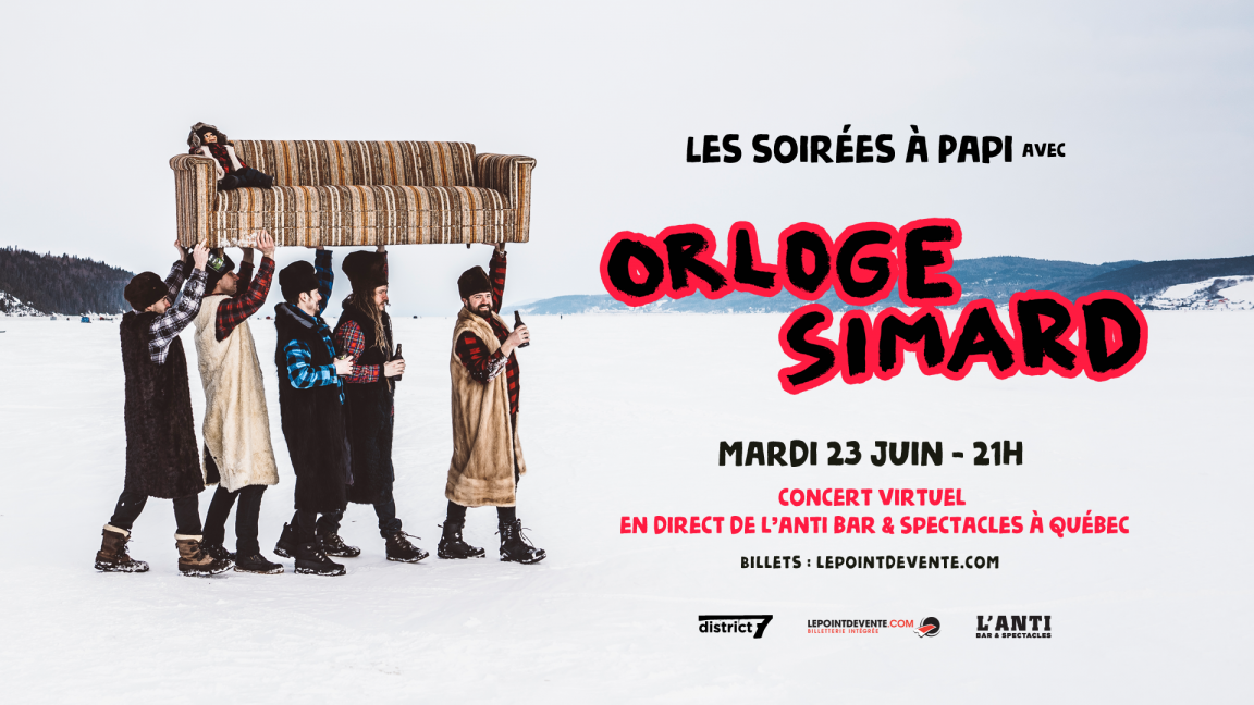 Orloge Simard - Concert virtuel en direct