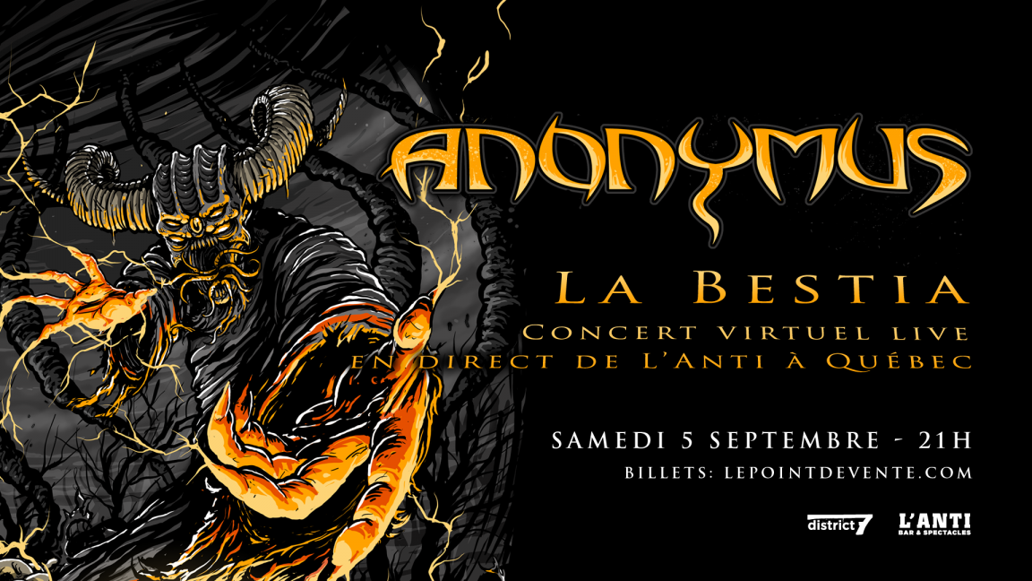 Anonymus - Concert virtuel en direct