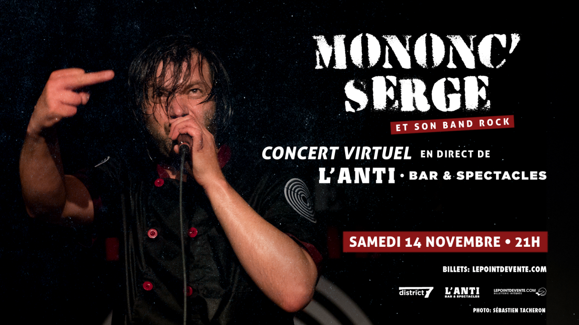 Mononc Serge et son band rock - Concert virtuel en direct