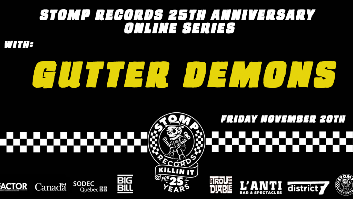 Stomp Records 25th Anniversary Online Series w/ Gutter Demons