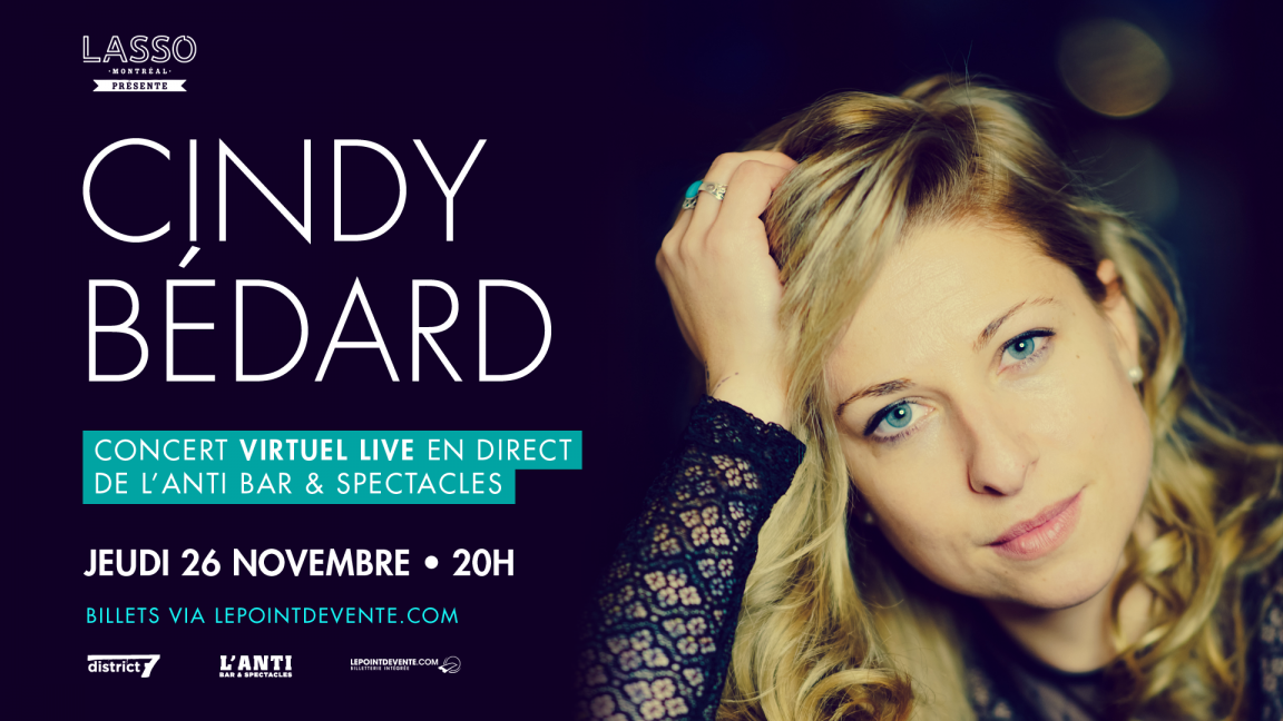 Cindy Bédard - Concert virtuel en direct