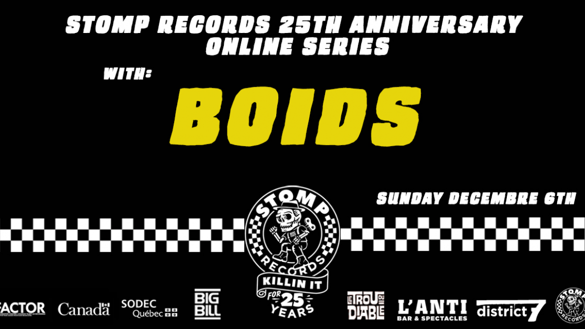 Stomp Records 25th Anniversary Online Series w/ Boids