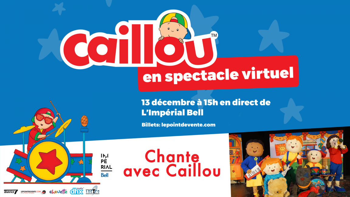 Caillou - Spectacle virtuel en direct