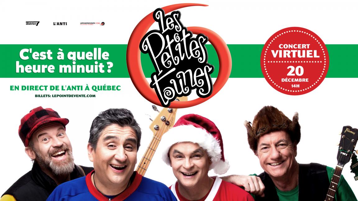 """Les Petites Tounes """"C'est à quelle heure minuit"""" - Concert virtuel en direct"""