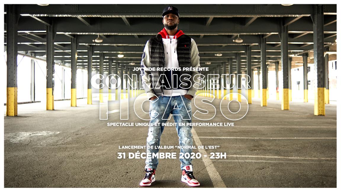 Lancement de l'album Normal de l'Est - Connaisseur Ticaso en performance live virtuel