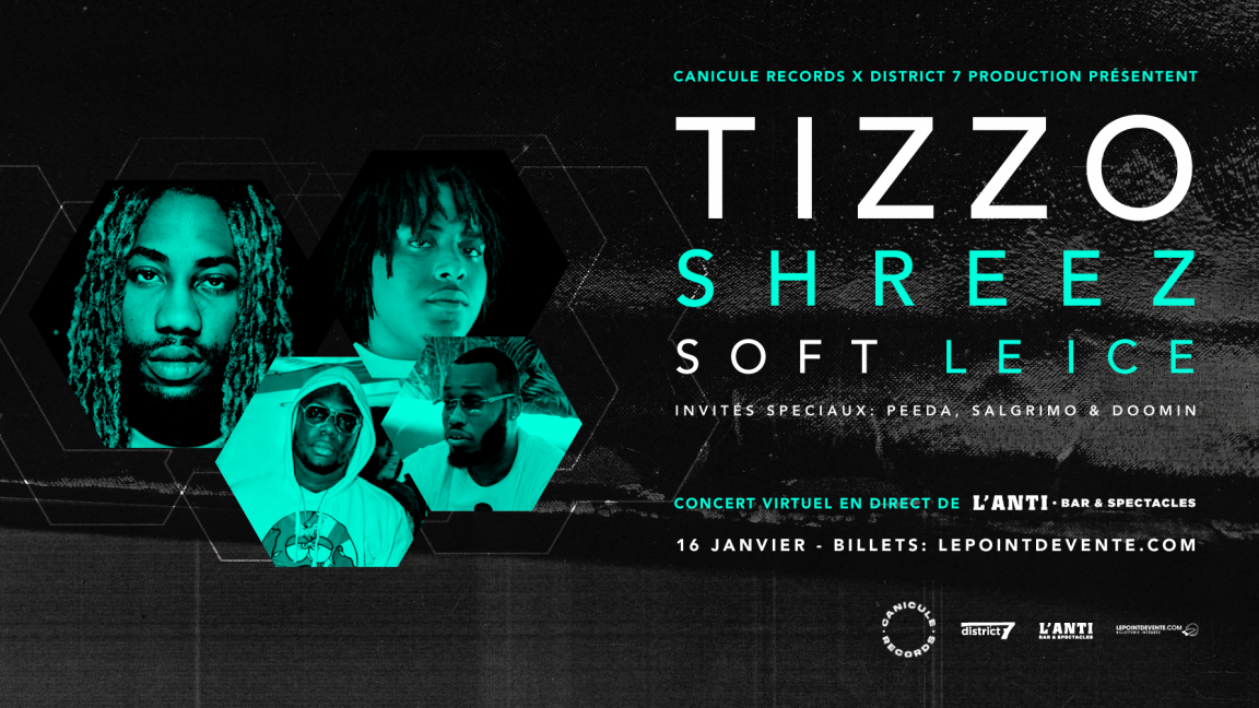 Tizzo, Shreez, Soft et Le Ice - Concert virtuel en direct