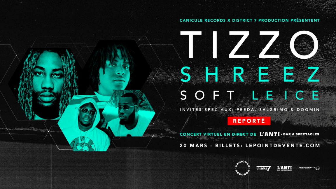 Tizzo, Shreez, Soft et Le Ice - Concert virtuel en direct