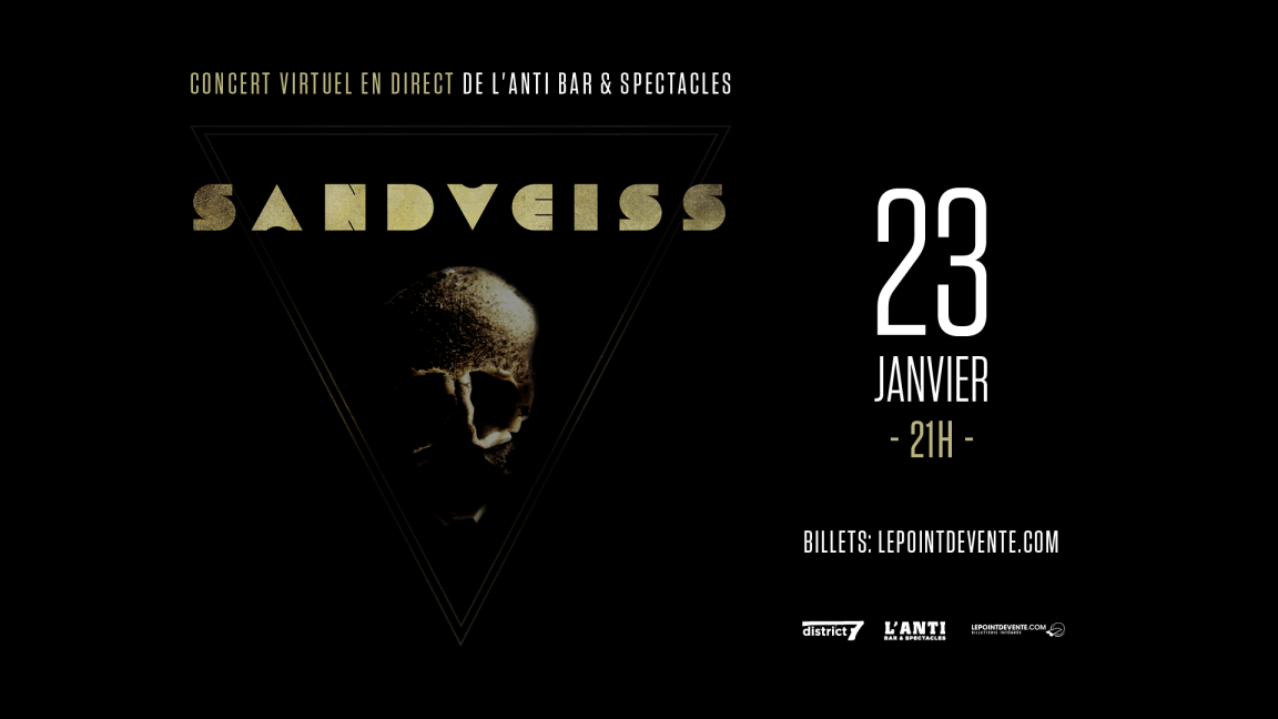 Sandveiss - Concert virtuel en direct