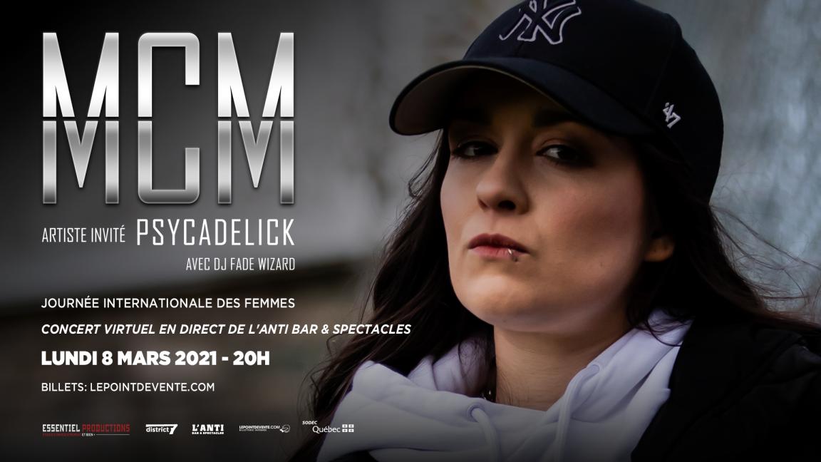 MCM avec PSYCADELICK- Concert virtuel en différé