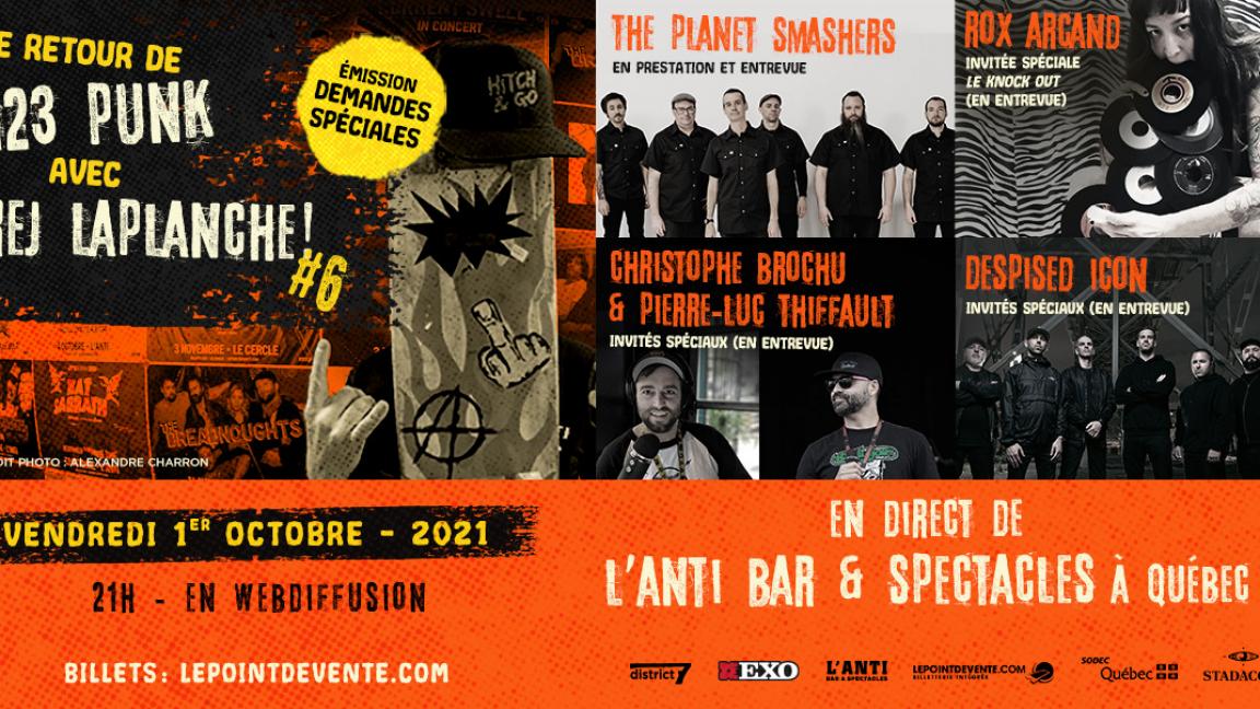Le retour de 123 PUNK avec Rej Laplanche #6 - en direct de L'Anti Bar & Spectacles