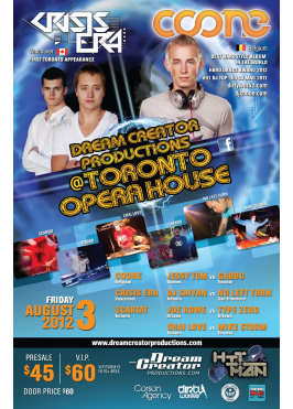 DREAM CREATOR PRODUCTIONS @ TORONTO OPERA HOUSE