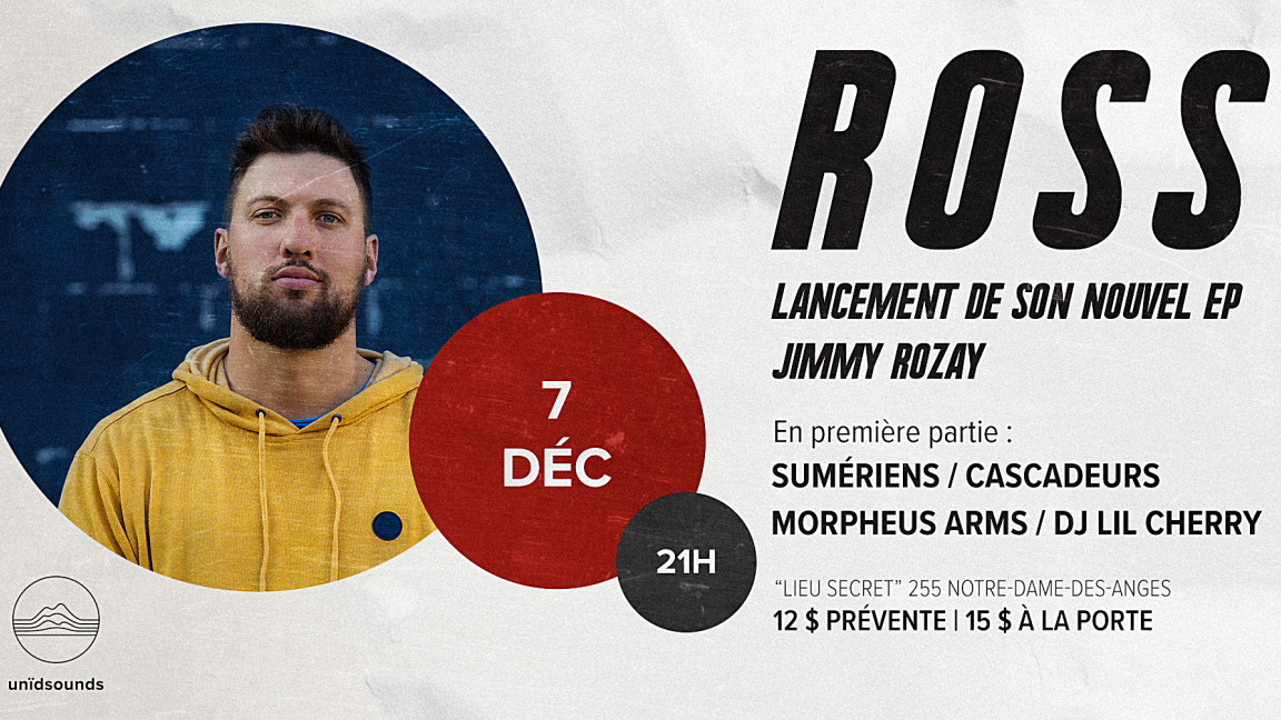 Ross - Lancement du EP «Jimmy Rozay»