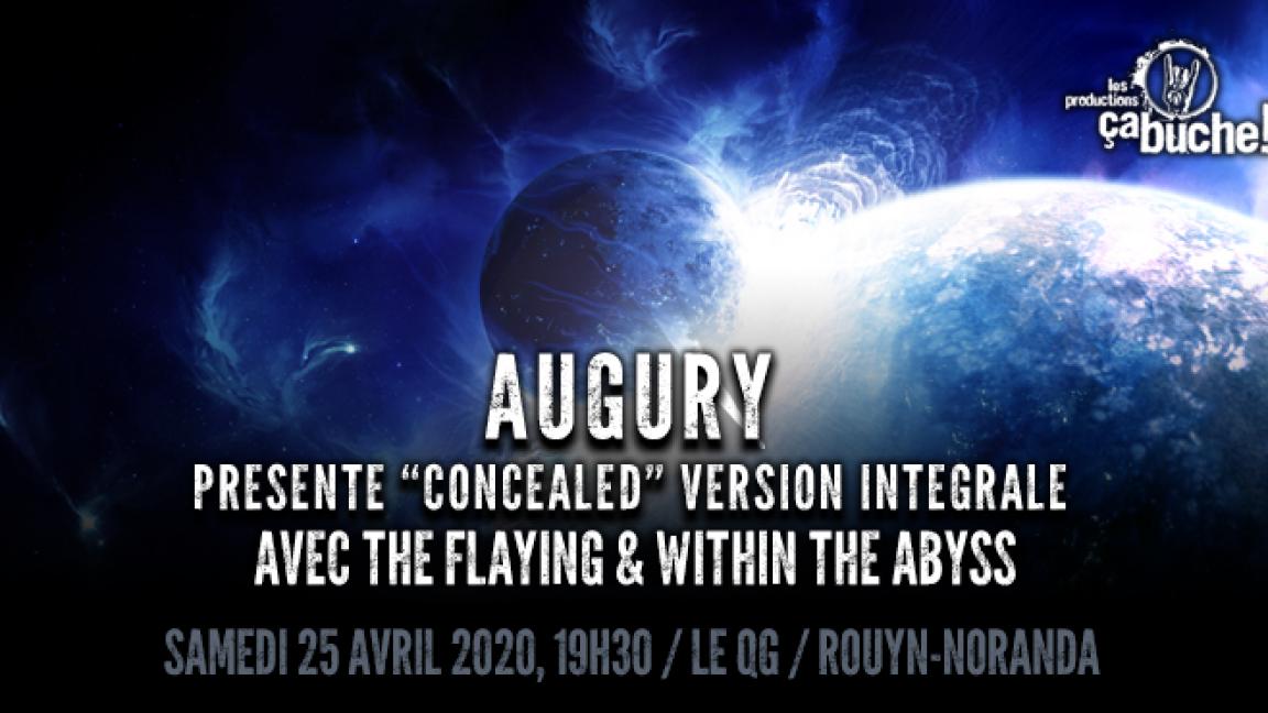 """Augury présente """"Concealed"""""""